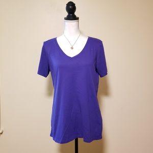 EUC, Nike Purple Basic V Neck Dry Fit Tee, L